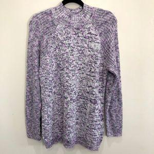 Croft & Barrow Mottled Mock Neck Tunic Sweater